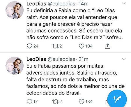"""Leo Dias fala sobre \""""pupila\"""" no \""""Fofocalizando\"""" e entende \""""recado\"""" do SBT"""