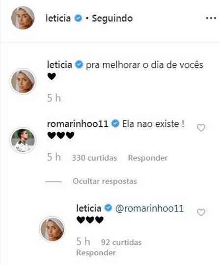 Após polêmica familiar, Letícia Almeida está ficando com filho de Romário