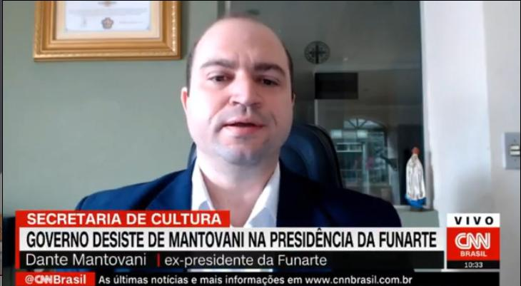"""Mari Palma é atacada por Mantovani ao vivo na CNN e Phelipe Siani a defende: \""""Só para ficar claro\"""""""