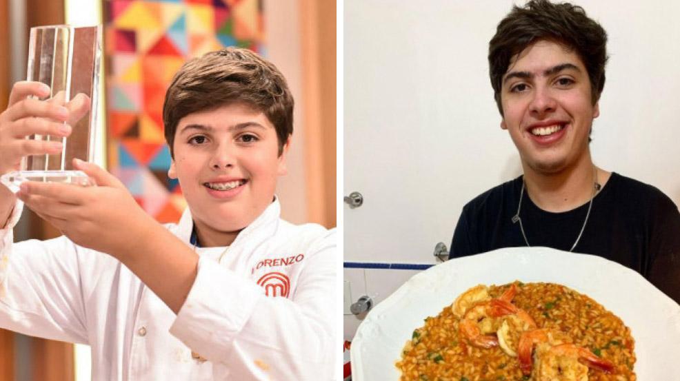 Lorenzo Ravioli antes e depois