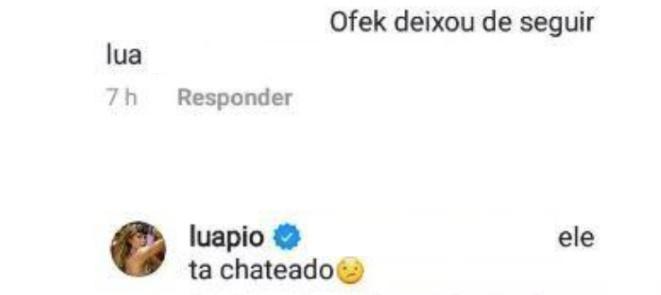 """Luana Piovani leva unfollow do ex e explica: \""""Ele está chateado\"""""""