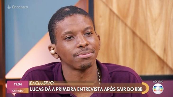 Lucas Penteado conversando com Fátimas Bernardes