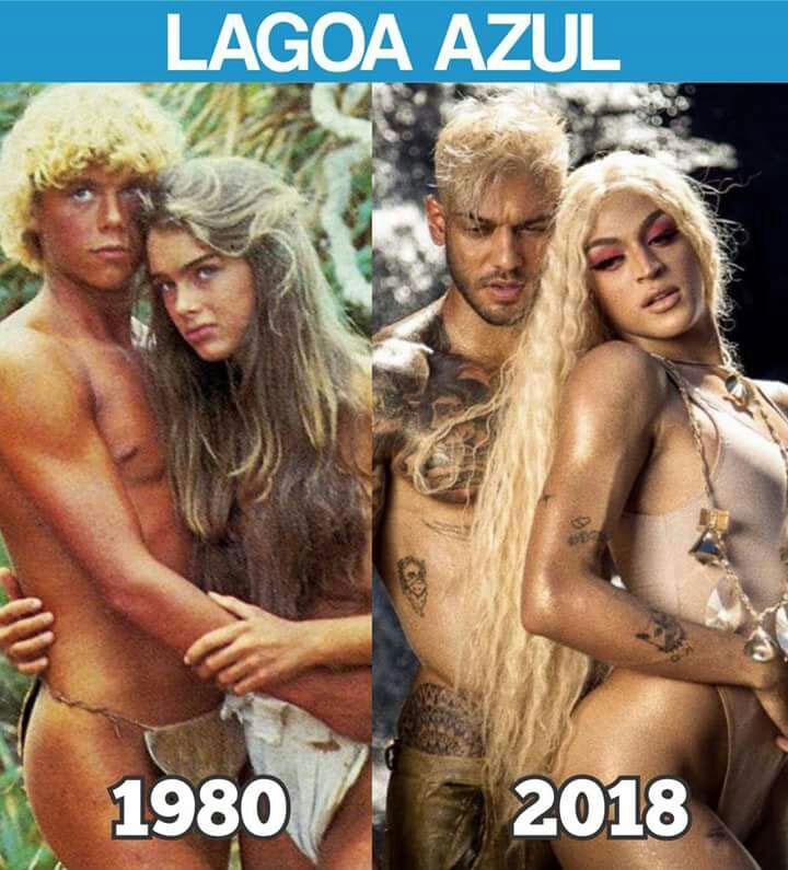 """Lucas Lucco e Pabllo Vittar são comparados aos protagonistas do filme \""""A Lagoa Azul\"""""""