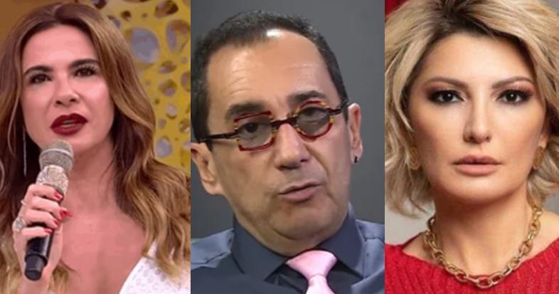 Luciana Gimenez, Jorge Kajuru e Antonia Fontenelle