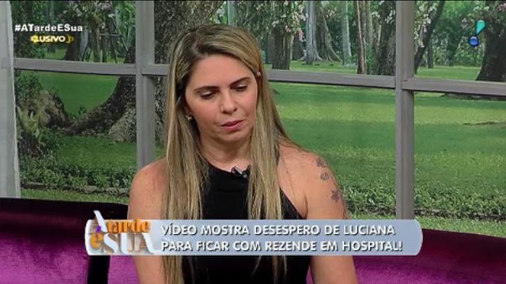 """Luciana Lacerda rebate filhos de Marcelo Rezende e lamenta sua falta: \""""me sinto sozinha\"""""""