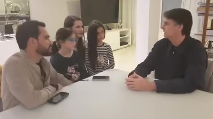 Luciano Camargo, sua família e Jair Bolsonaro