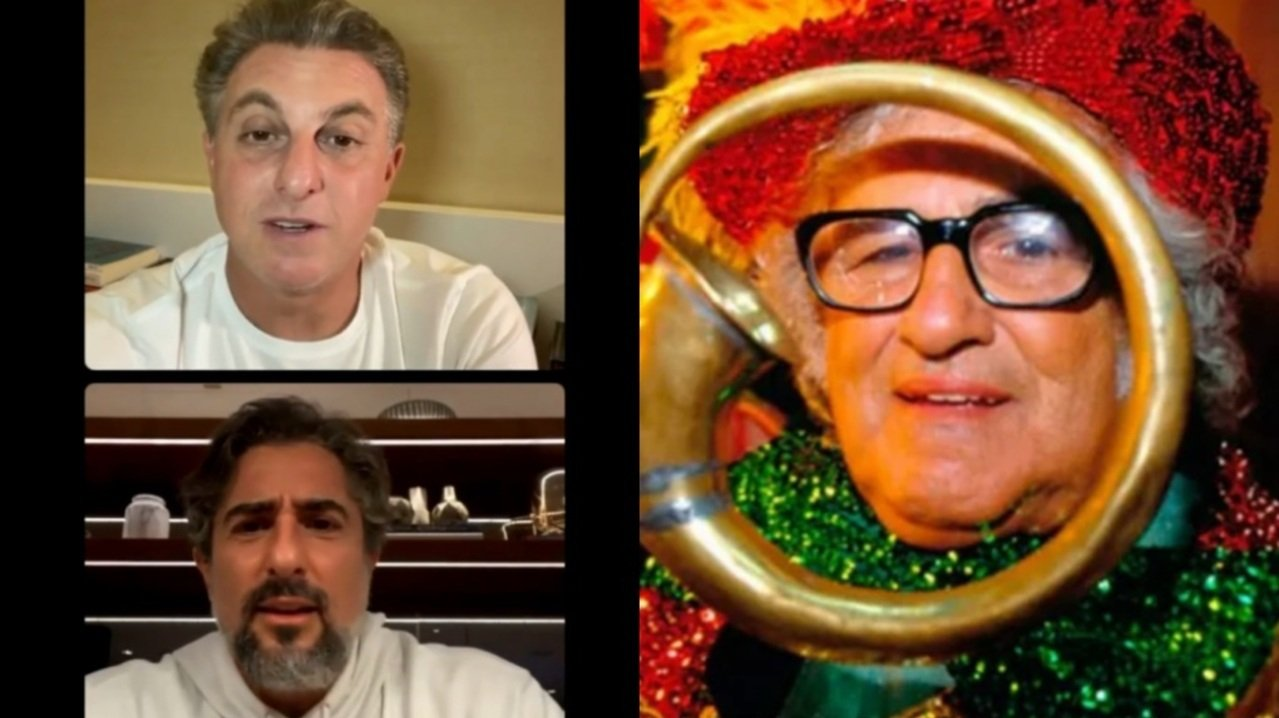 Luciano Huck, Marcos Mion e Chacrinha: apresentadores das tardes de sábado da Globo