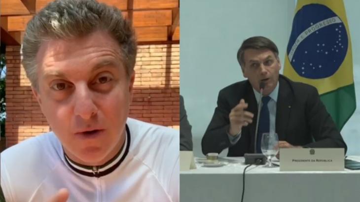 """Luciano Huck defende repórter da Globo e detona Bolsonaro: \""""Covardia\"""""""
