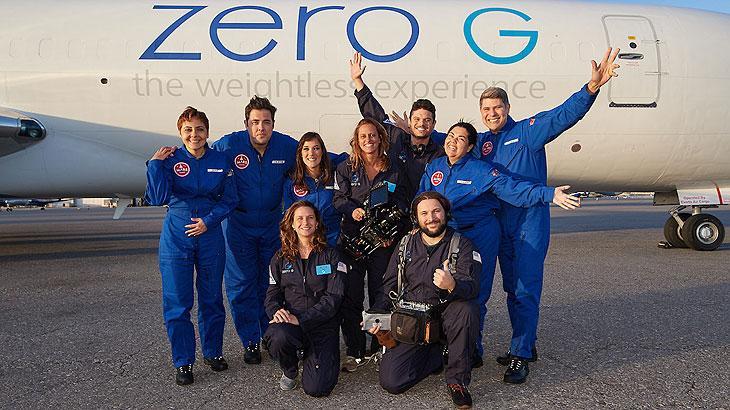 """Equipe de \""""Lucicreide Vai pra Marte\"""" tem gravações em voo de gravidade zero"""