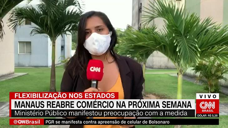 A jornalista Luciene Kaxinawá, da CNN Brasil