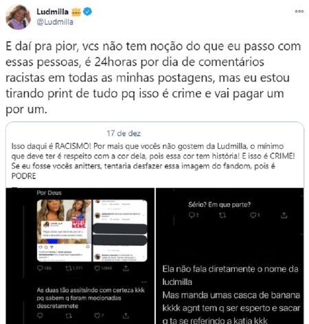 "Ludmilla sofre ataques e apaga redes sociais: \""24 horas por dia de comentários racistas\"""