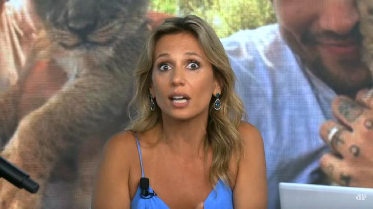Luisa Mell, assustada, participa de programa de TV