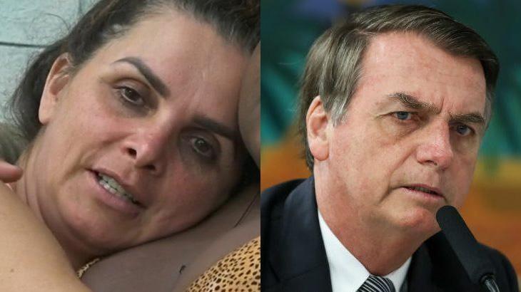 Luiza Ambiel e Jair Bolsonaro