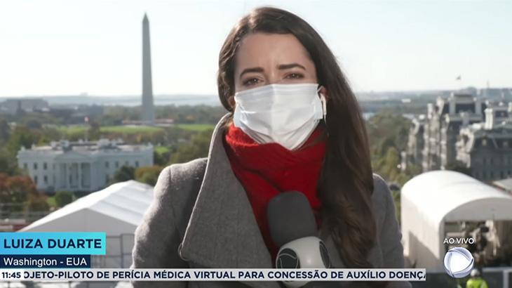 A repórter Luiza Duarte cobre a eleição norte-americana pela Record