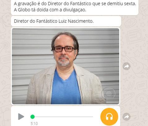 """Áudio de diretor do \""""Fantástico\"""" criticando jornalismo da Globo é falso"""