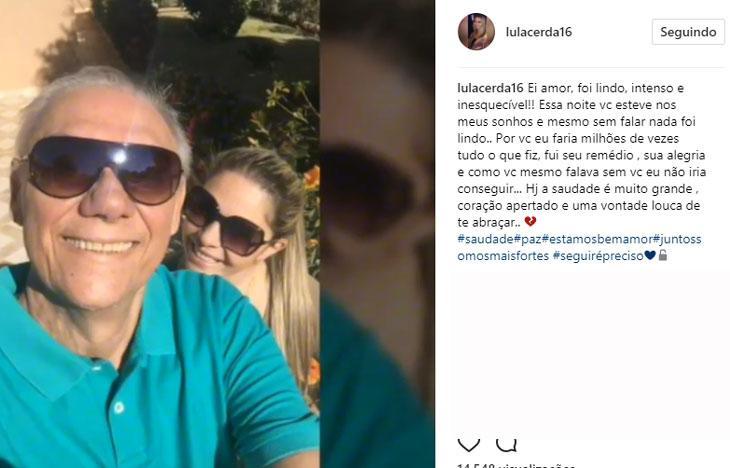 """Luciana Lacerda sonha com Marcelo Rezende: \""""a saudade é muito grande\"""""""