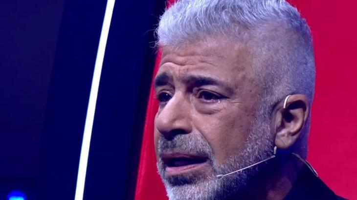 Lulu Santos chorando no The Voice Brasil
