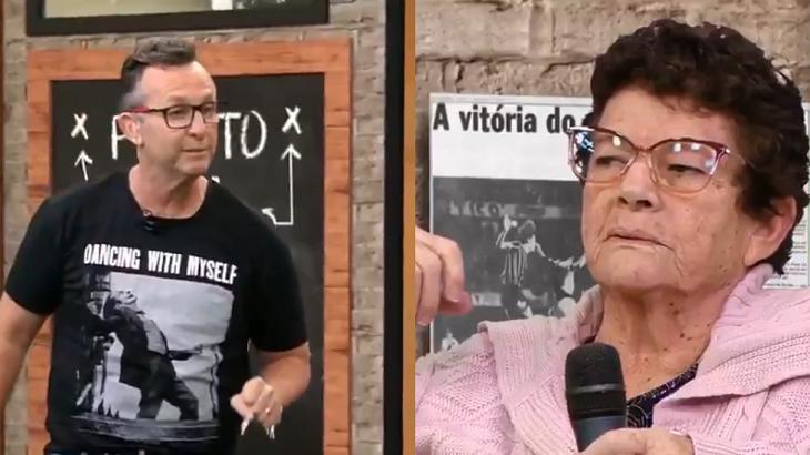 Craque Neto (à esquerda) e Dona Cida (à direita) em foto montagem