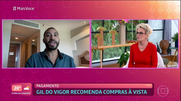 Gil do Vigor conversando com Ana Maria Braga no Mais Você