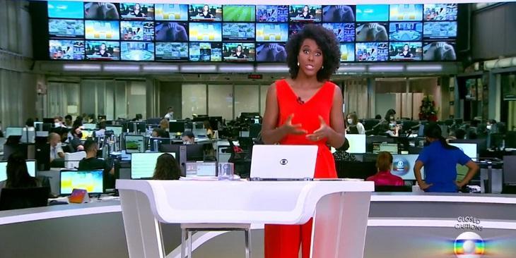 """Globo se descuida e exibe cena de \""""pegação\"""" no telão do Jornal Hoje"""