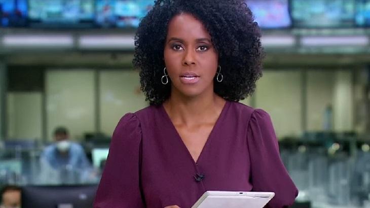 """Gritos de \""""Globo lixo\"""" interrompem Jornal Hoje e Maju Coutinho reage"""