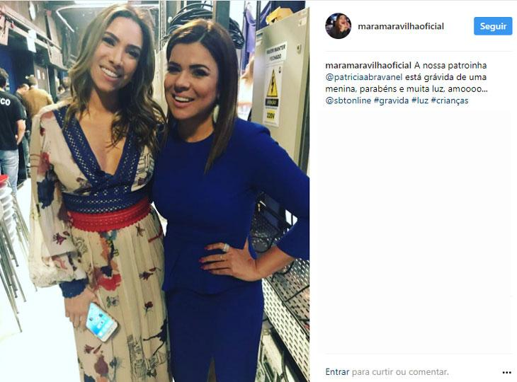 Patrícia Abravanel está grávida de uma menina, diz Mara Maravilha