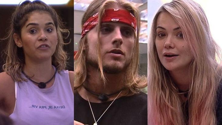 Gizelly, Daniel e Marcela durante o reality show BBB20