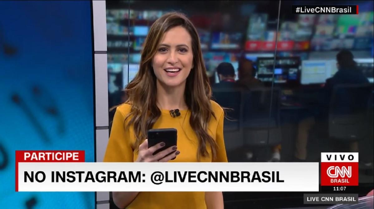 Marcela Rahal apresentando o Live CNN Brasil