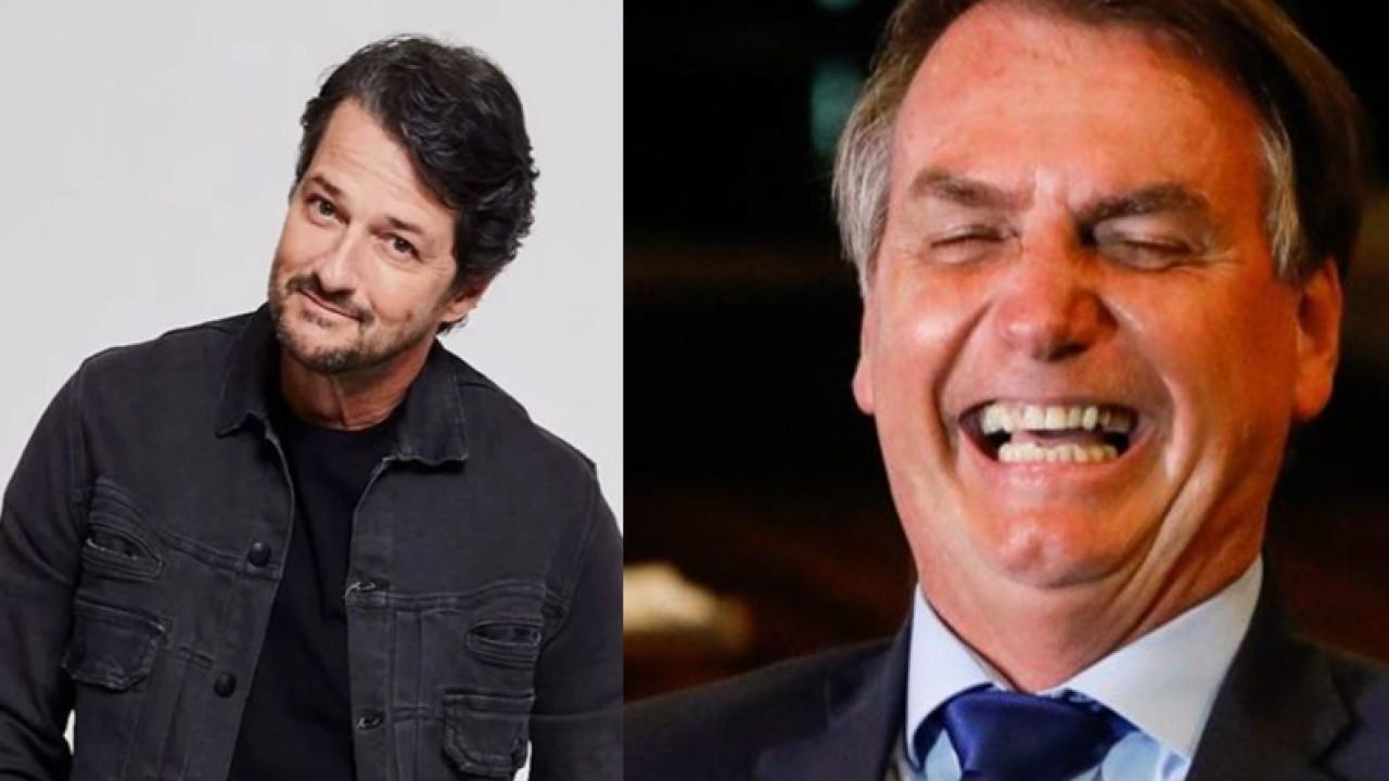 Marcelo Serrado e Jair Bolsonaro