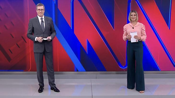 Márcio Gomes e Daniela Lima na CNN