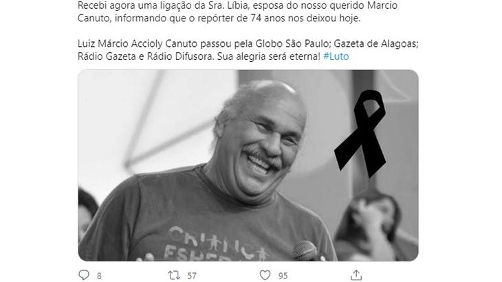 "Márcio Canuto desmente boato sobre morte: \""Irresponsável\"""