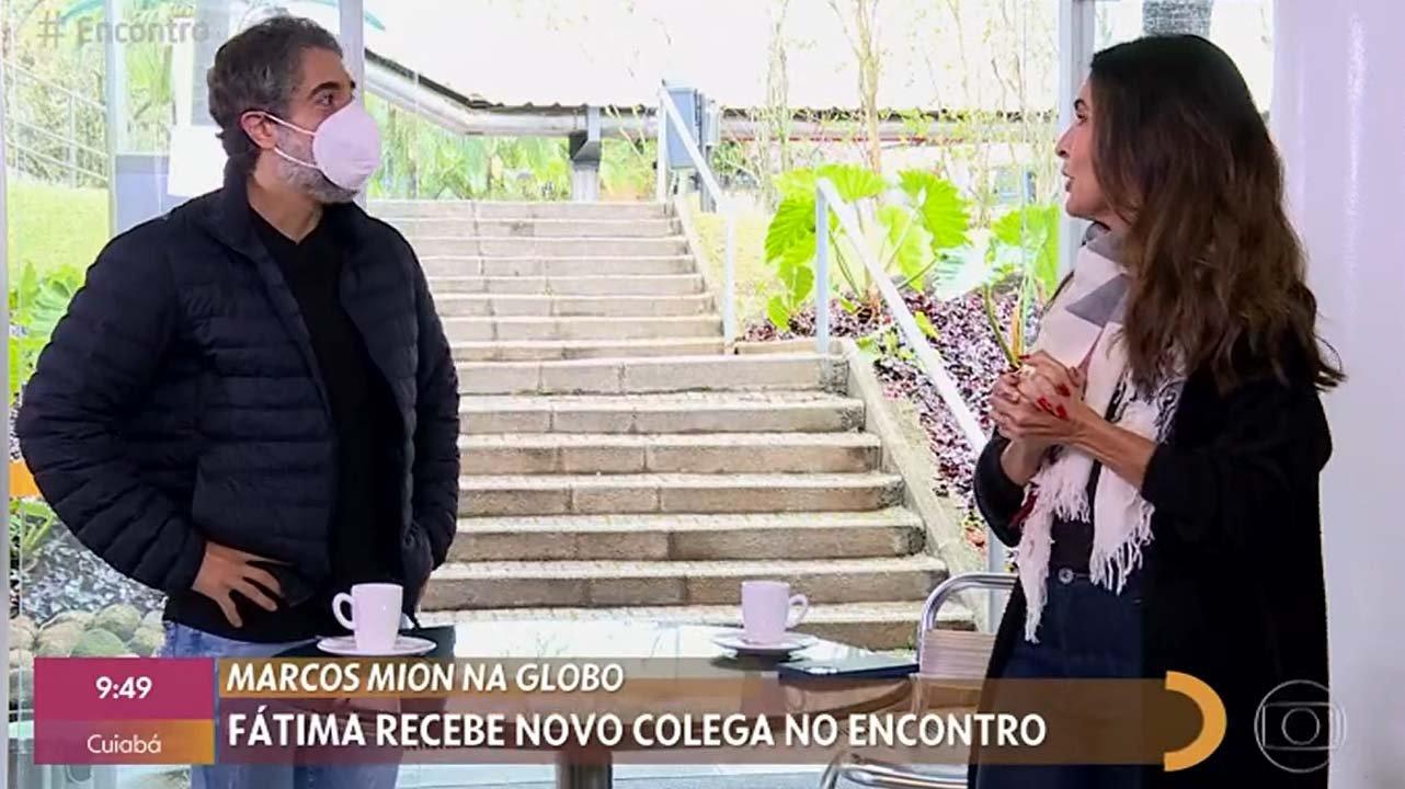 """Marcos Mion chora ao vivo no Encontro: \""""Não vou fingir costume\"""""""
