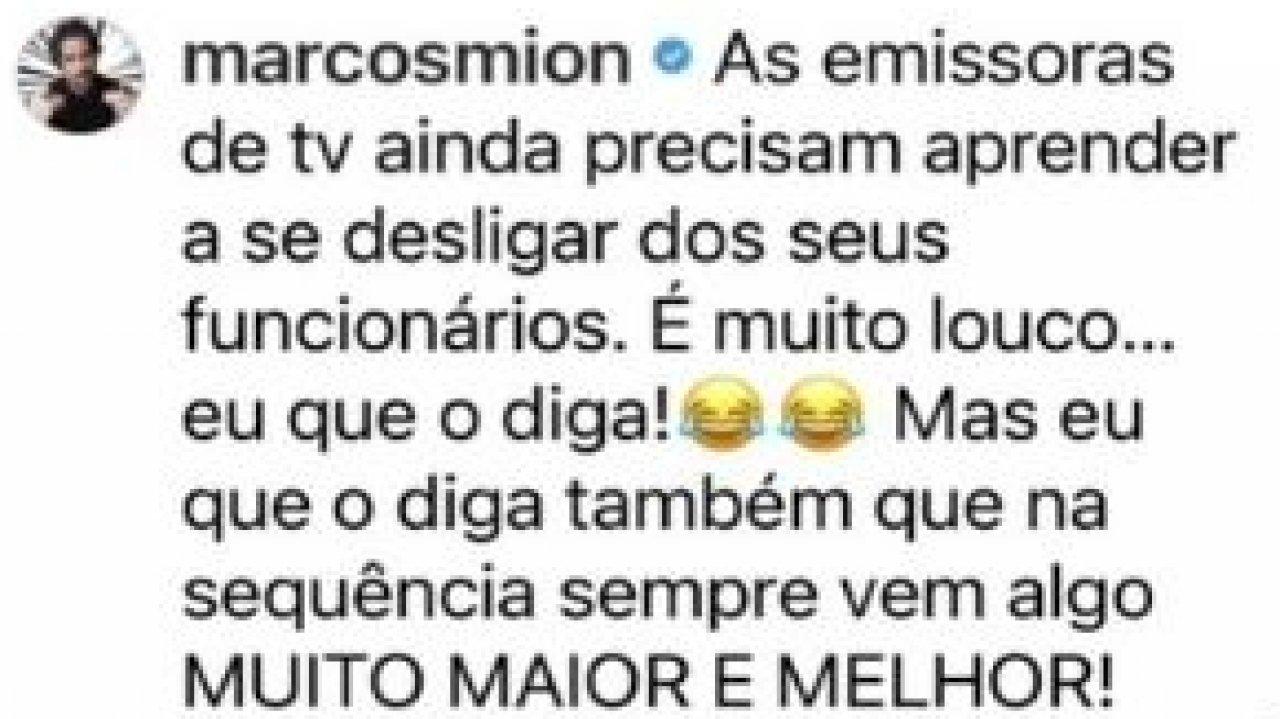 Marcos Mion apoia Evaristo Costa e cutuca CNN Brasil e Record