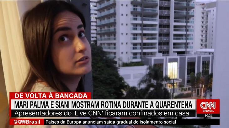 """Curada do coronavírus, Mari Palma chora em volta à CNN: \""""Ficava com medo\"""""""