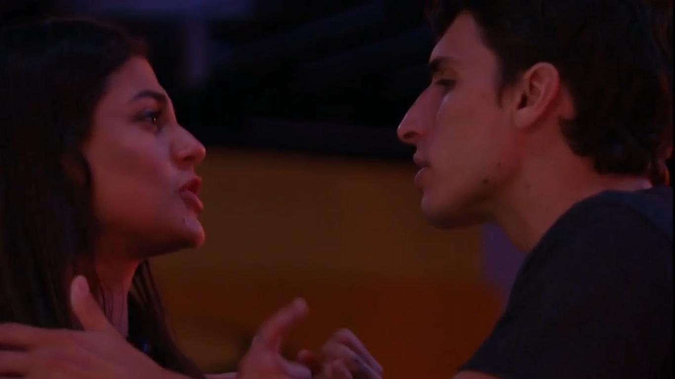 Mari Gonzalez e Felipe Prior durante o reality show BBB20