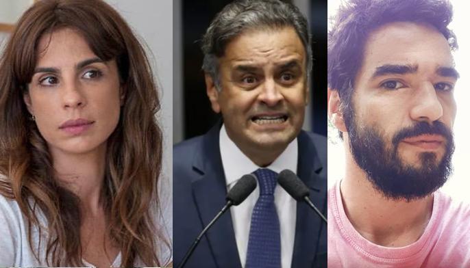 Maria Ribeiro, Aécio Neves e Caio Blat