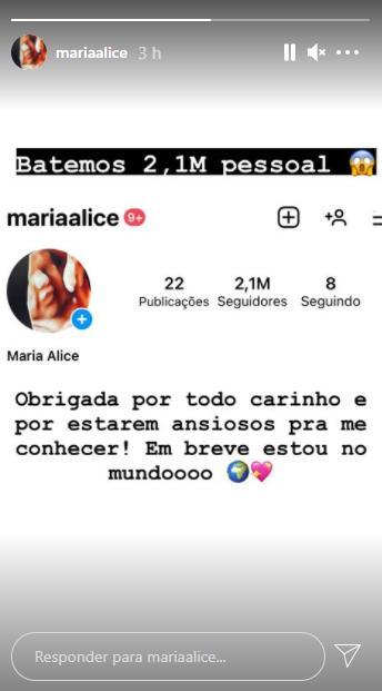 Filha de Zé Felipe já soma mais de 2 milhões de seguidores antes de nascer