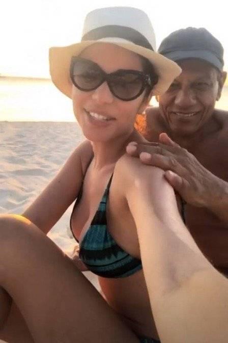 Ex-BBB está namorando empresário milionário de 75 anos e passou feriado em Aruba