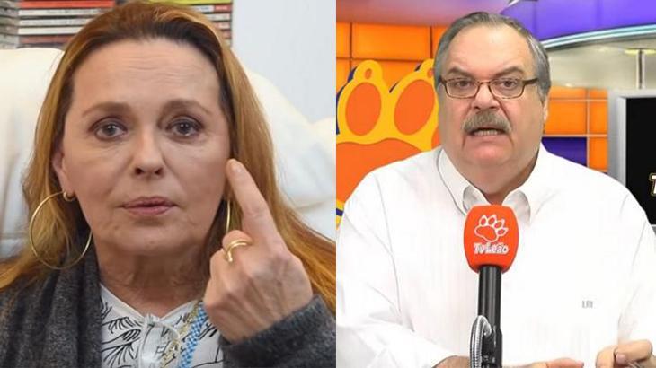 A atriz Maria Zilda e o apresentador Gilberto Barros