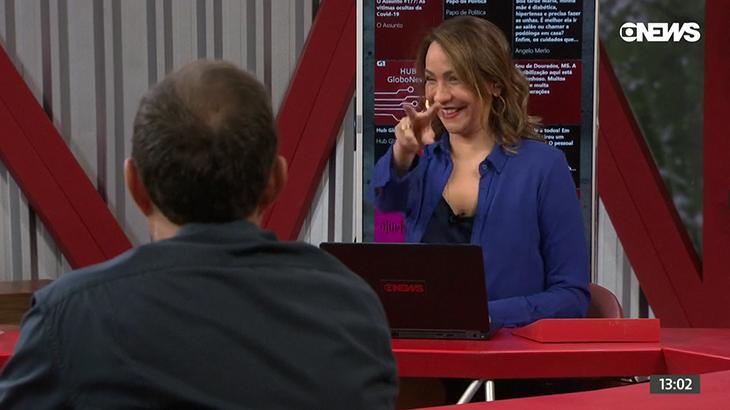 """Maria Beltrão comenta """"bronca"""" em Octavio Guedes no Estúdio I"""