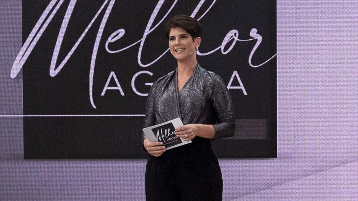 Mariana Godoy apresentando o Melhor Agora