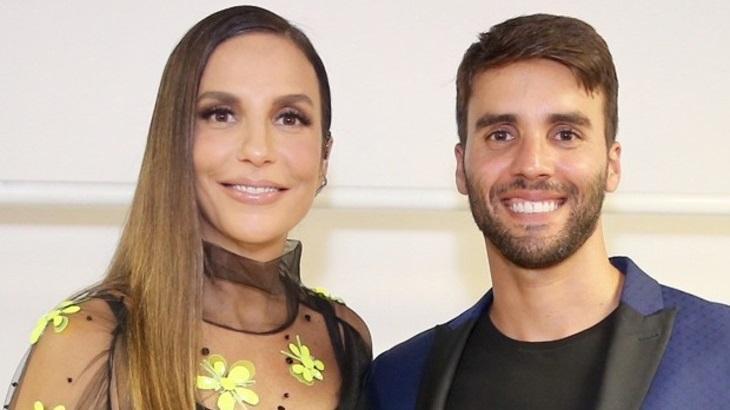 Ivete Sangalo ao lado do marido Daniel Cady