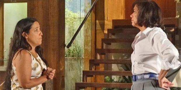 "Fina Estampa: Marilda ameaça Tereza Cristina: \""Vai sair daqui presa\"""