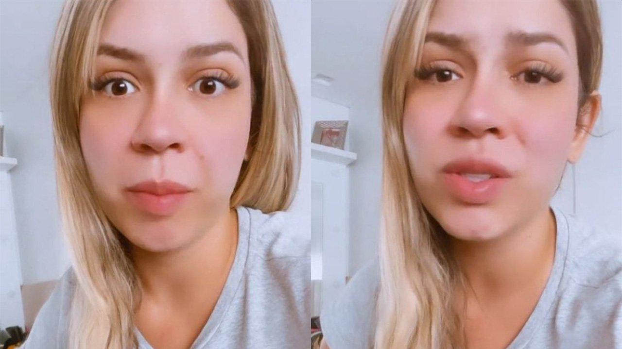 Marília Mendonça assustada em selfie