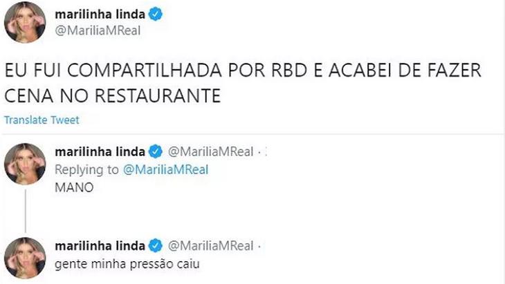 """Vídeo de Marília Mendonça é compartilhado por RBD: \""""Minha pressão caiu\"""""""