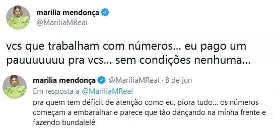 """Marília Mendonça conta que tem déficit de atenção: \""""Traumas\"""""""