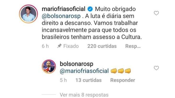 Secretário especial da Cultura, Mário Frias comete gafe com erro de português