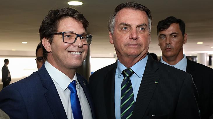 Mario Frias e Jair Bolsonaro