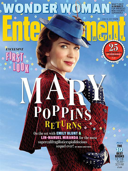 """Nova \""""Mary Poppins\"""" estampa capa de revista; veja fotos"""