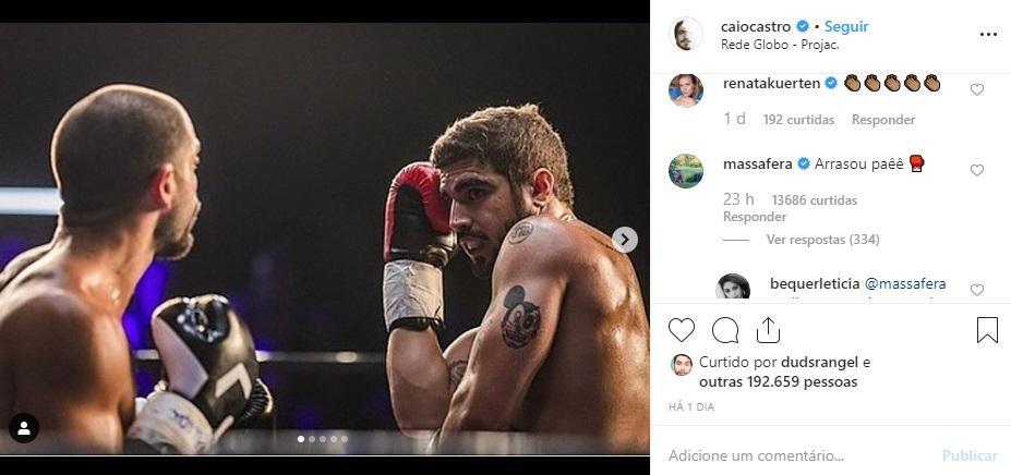 """Grazi Massafera comenta em foto de Caio Castro: \""""Arrasou\"""""""